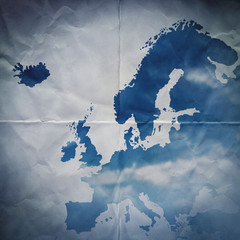 paper europe map