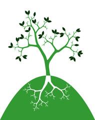 Vettoriale: albero stilizzato con radici