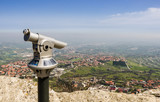 Rimini view from San Marino fortress - Adriatic Coast, Italy