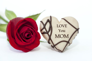 """LOVE YOU MOM"" Karte"