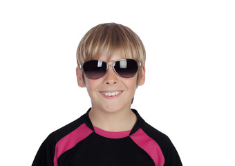 Smiling boy with trendy sunglasses