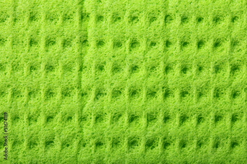Green sponge foam as background texture