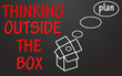 think outside the box sign