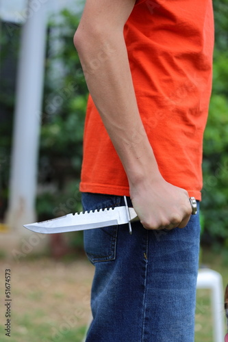 Holding a Knife