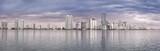 Miami skyline panorama  from Biscayne Bay