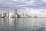 Miami skyline view  from Biscayne Bay