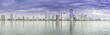 Miami skyline panorama  from Biscayne Bay, Florida