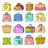 collection of hand drawn bags