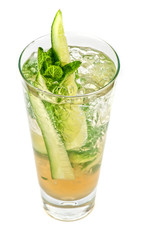 cocktail with cucumber