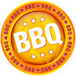 "Button ""BBQ"" orange"