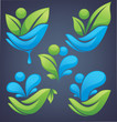 neture and ecology in your hands, vector collection of leaves an