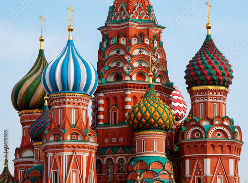 Keuken foto achterwand Bedehuis Moscow Saint Basil Cathedral cupola