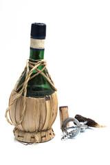 alte italienische Weinflasche - Flasche Leer!