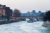 Seine river and Pont Neuf in Paris