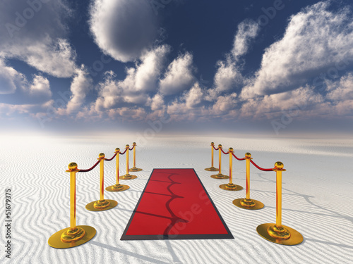 red carpet in desert sands