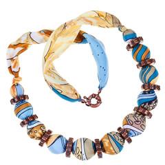 handmade silk woman necklace