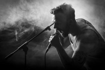 Vocalist in Hardrock Concert
