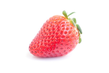 big red strawberry isolated on white