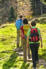 Drei Personen beim Wandern