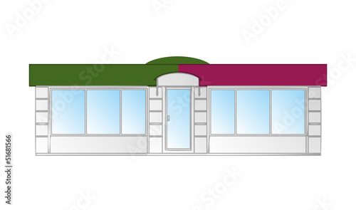 Kiosk vector illustration
