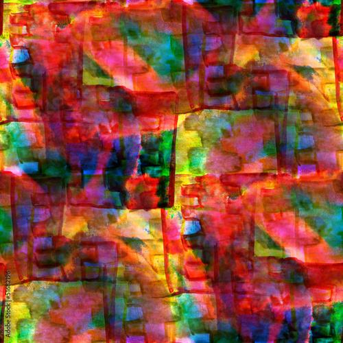 seamless cubism red, green, yellow abstract art Picasso texture