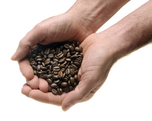two hands with coffee
