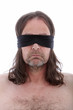 Man wearing a blindfold