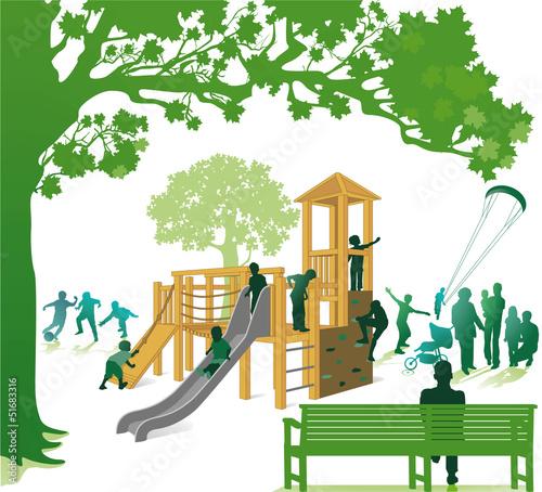 Klettergerüst im Park