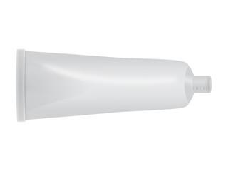 Herstellerneutrale, geöffnete Tube – Vektor und freigestellt