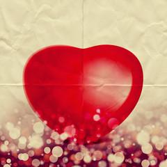 love heart on paper