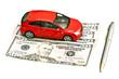 Car, pen and money