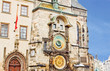 Famous astronomical clock in the Old Town square in Prague, Czec