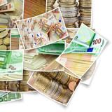 Fototapeta Płat - Gotówki - Pieniądze / Banknoty / Karta Kredytowa