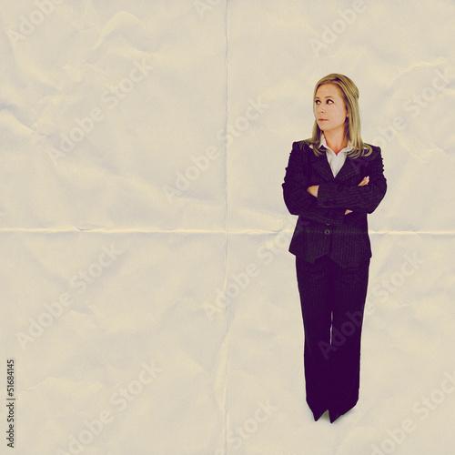 woman folded paper