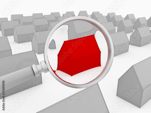 Haus rot