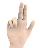 human hand - swear symbol poster