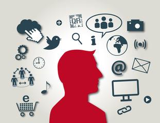 New Media, Social Media, Virales Marketing, rot