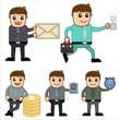 Cartoon Businessman and Various Concepts