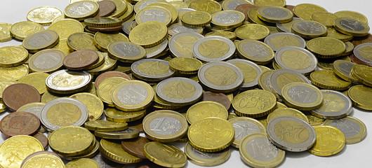 Distesa di monete Euro