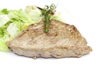 steack et salade