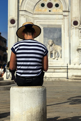 Gondolier de Venise
