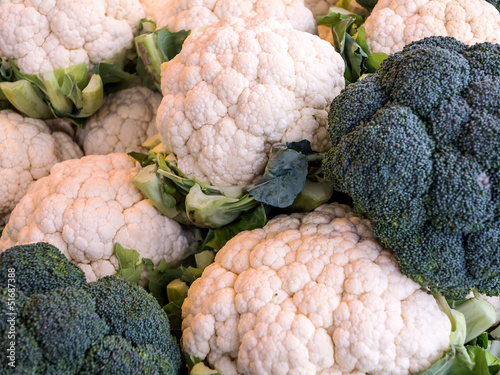 Blumenkohl und Brokkoli