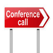 Conference call concept.