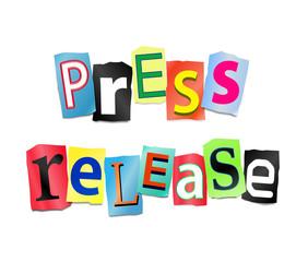 Press release concept.