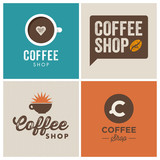 logo coffee shop, vector illustration