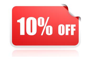 Discount sticker 10 percent