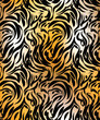 Abstract tiger skin