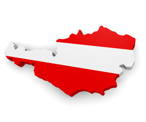 3d map of Austria