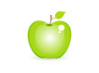 abstract shiny green apple icon
