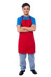 Casual full length portrait of male chef